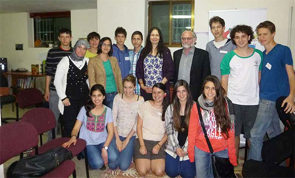Jo Berry and Pat Magee with Kids4Peace in Jerusalem
