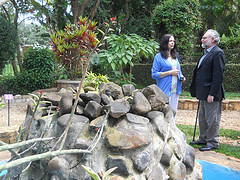 Pat Magee and Jo Berry  in Kigali Memorial Center-Rwanda