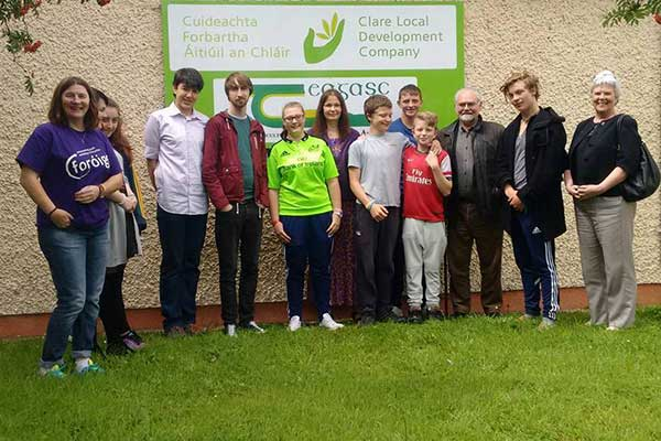 Jo Berry and Patrick Magee spoke to the Scarriff Foroige Youth Club